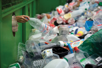Recycling of plastic materials