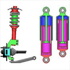 Design elements with the suspension