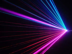 Article of manufacture laser display