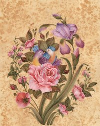 Original paintings of flowers and birds