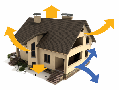 Paper insulation of buildings