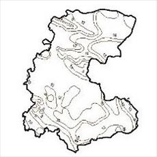 Map isotherms Central Province