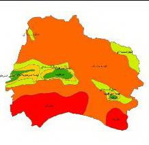 Climate classes map North Khorasan Province