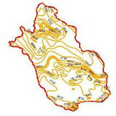 Map evaporation curves of the Fars province