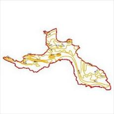 Map evaporation curves of the province