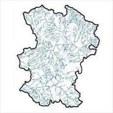 SHAPE file waterways of the province