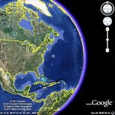 Save the image using the Google Earth software project