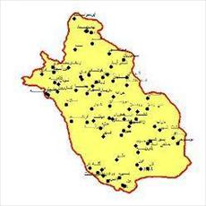 SHAPE file Fars province in point