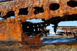 Paper corrosion in metal structures