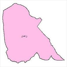 File political shape of city of Zahedan (Sistan and Baluchestan province)